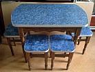 кухонный стол с 4 табуретами