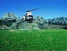Обработка полей вертолетом