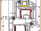 Металлопластиковое окно Rehau Ecosol 70 (4-16-4) Axor