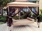 Садовая качеля шатер для отдыха на даче