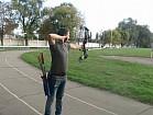 Обучение азам стрельбы из блочного лука, блочный лук.
