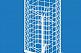 Стенд-сетчатый настольный шестиугольник