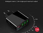 USB зарядка с амперметром Soonhua на 3 порта USB