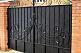 Ворота с профлиста,ворота с калиткой