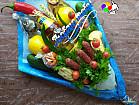 Букеты мясные, фруктовые, овощные,сладкие
