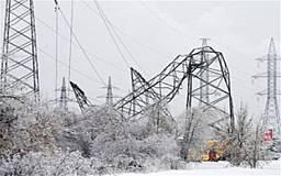 20 населенных пунктов обесточены из-за непогоды в Днепропетровской области