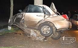 Ужасное ДТП в Кривом Роге: «Chevrolet» намотало на столб (18+)