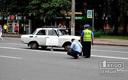 В Кривом Роге на пр. Гагарина водитель «Москвича» сбил женщину на пешеходном переходе