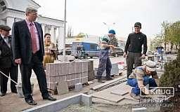 Андрей Гальченко проверил ход реконструкции на пр. Карла Маркса