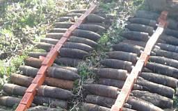 Под Кривым Рогом обнаружили десятки боеприпасов времен ВОВ