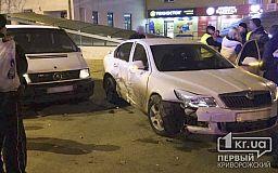 Skoda на большой скорости «влетела» в Mercedes. ДТП в Кривом Роге
