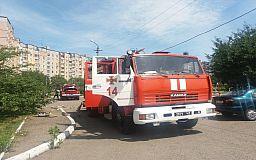В Кривом Роге из «горящей» 14-этажки пожарные спасли мужчину