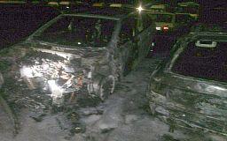 На платной стоянке в Кривом Роге сгорели 4 автомобиля