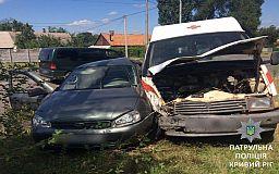 Авария в Кривом Роге: скорая помощь столкнулась с легковушкой