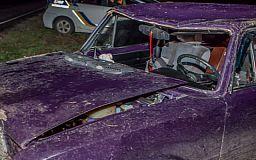 На Криворожском шоссе пьяный водитель без прав попал в ДТП