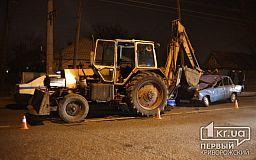 ДТП в Кривом Роге: Жигули влетел под трактор