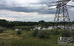 За два часа на выезде из Кривого Рога образовалось «озеро-беспризорник»
