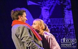 Григорий Антипенко и Татьяна Арнтгольц в спектакле «Двое на качелях» в Кривом Роге