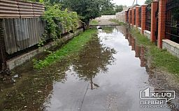 Рекорд от Кривбассводоканала: в Кривом Роге на одной из улиц 9 месяцев бежит вода