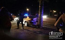 В Кривом Роге нетрезвый водитель врезался в столб возле детской больницы