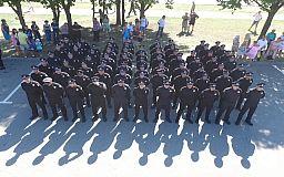 «Наша патрульна поліція за рік дійсно стала кращою», - Костянтин Усов на присязі копів у Кривому Розі