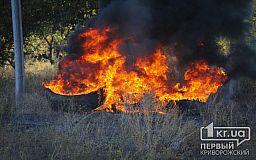 Под Кривым Рогом горели гараж, автомобиль, дом и летняя кухня