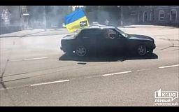 BMW «валил боком» в Кривом Роге на автопробеге (ВИДЕО)