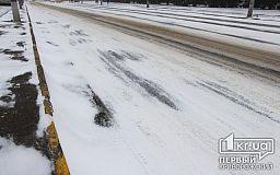 Трасса Кривой Рог-Днепр была перекрыта из-за снегопада