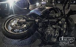 В Кривом Роге на «зебре» мотоциклист сбил женщину с ребенком