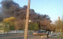 Свидетели события: на Заречном в Кривом Роге горит дизельный завод