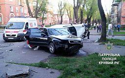 В Кривом Роге столкнулись Audi и Renault. Пять человек в больнице