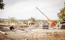Южный ГОК строит новый сквер в Ингулецком районе