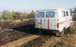 Во время пожара на кладбище под Кривым Рогом погибла пенсионерка