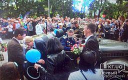 На мотоцикле и джипе в Кривом Роге прокатили ветеранов