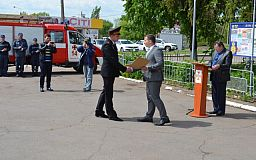 Сухих рукавов на 40-летие пожелали спасателям 14-й пожарной части в Кривом Роге
