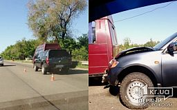 В Кривом Роге столкнулись ГАЗ и Mitsubishi