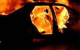 В Кривому Розі на стоянці горіло авто