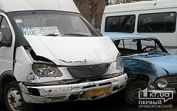 В Кривом Роге столкнулись маршрутка и Москвич. Пострадали четыре человека