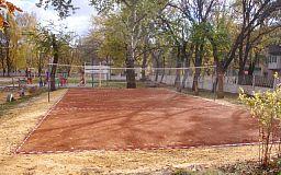 Дети микрорайона «Сухая Балка» получили новую волейбольную площадку от Центрального комбината