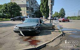 ДТП с пострадавшими в Кривом Роге. На мкр. Восточный столкнулись Audi и Москвич