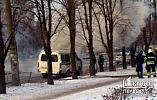 В Кривом Роге загорелся автомобиль