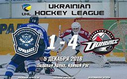 Победа снова за чемпионом. ХК «Кривбасс» против «Донбасса»