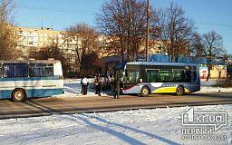 Не разминулись два автобуса. ДТП в Кривом Роге