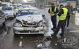 В Кривом Роге столкнулись два Daewoo. Три человека госпитализированы