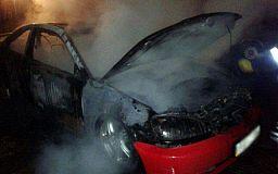 В Кривом Роге горела «Honda»