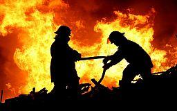 Во время пожара под Кривым Рогом пострадала маленькая девочка