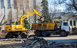 В Днепропетровске начали сооружать уличную экспозицию будущего музея АТО