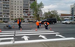 На ключевых дорогах Кривого Рога появится современная светоотражающая разметка