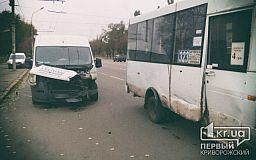 В Кривом Роге микроавтобус протаранил маршрутку с пассажирами