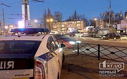 В Кривом Роге на кольце 95-квартала остановились троллейбусы